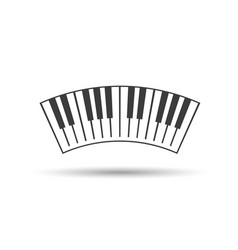 piano keyboards logo eps vector image