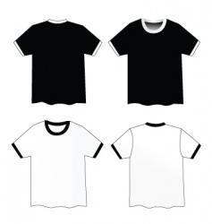 ribbed shirts vector image