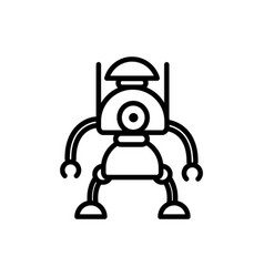 robot innovation character artificial machine vector image