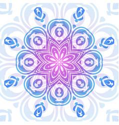 round oriental ornament vector image