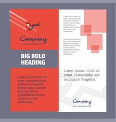 route company brochure title page design company vector image
