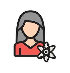 Science woman vector