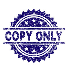 Scratched textured copy only stamp seal vector
