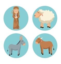 Shepherd cartoon design vector