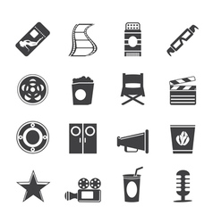 Simple Cinema and Movie Icons vector image