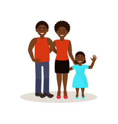 smiling afro american black family in casual vector image