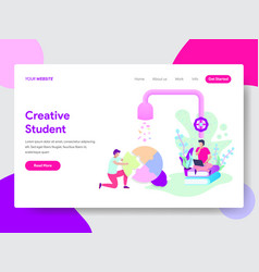 student creativity concept vector image