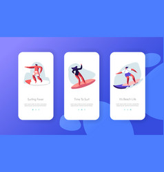 summertime activity healthy lifestyle mobile app vector image