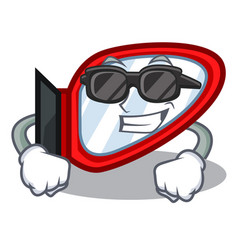super cool side mirror in the cartoon shape vector image