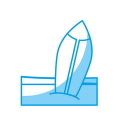 surfboard icon image vector image