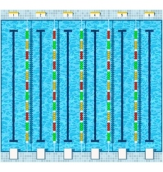 Swimming pool flat vector