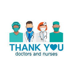 Thank you to doctors and nurses freeai vector