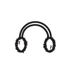 thin line earmuff icon vector image