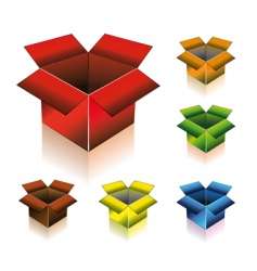 three dimensional box with shadow vector image vector image