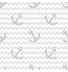 Tile sailor pattern with anchor on white and grey vector