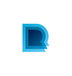 triple r letter logo icon vector image
