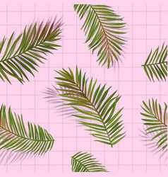 tropical palm leaves seamless pattern floral vector image