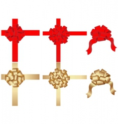 Vector set of decorative bows vector