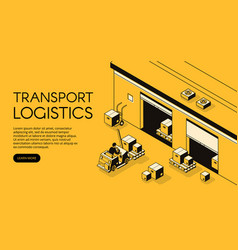 Warehouse logistics isometric vector