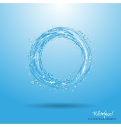 Water circle whirlpool realistic droplets vector