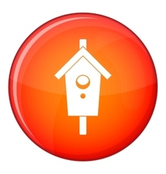 Birdhouse icon flat style vector image