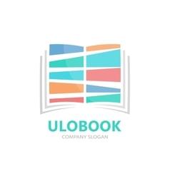 colored book logo concept vector image