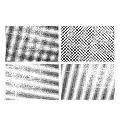 Grunge stripe texture backgrounds set vector image vector image