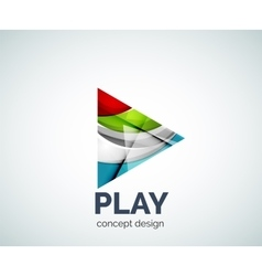 Play button logo business branding icon vector image