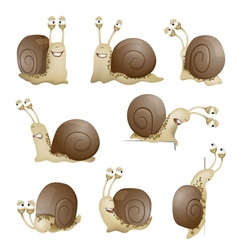 snails set vector image vector image