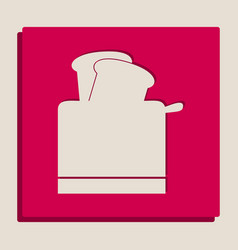 toaster simple sign grayscale version of vector image