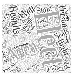 election results Word Cloud Concept vector image vector image