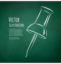 push pin vector image