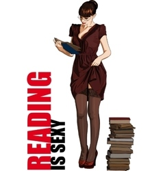 reading is sexy vector image