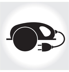 Circular Saw tool icon black silhouette Element vector image
