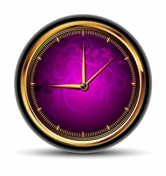 clocks with purple dial vector image vector image