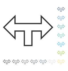 Junction arrow left right icon vector