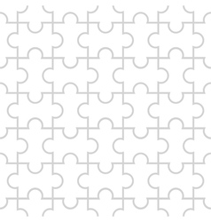 Seamless pattern in the form of puzzle vector image