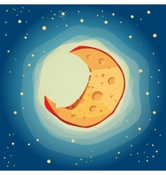 moon cheese vector image