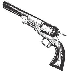 Old West Gun vector image