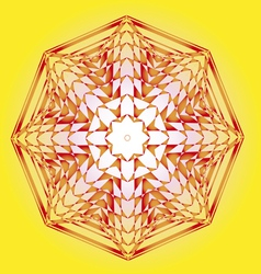 spring lotus sun design vector image vector image