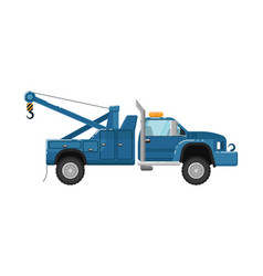 tow truck isolated vector image vector image