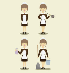 young beautiful maids vector image