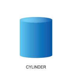 3d shape CYLINDER vector image