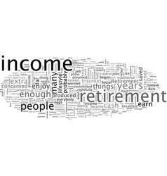 a fresh mindset on retirement income vector image