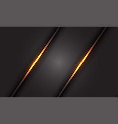 abstract gold light line on dark grey blank space vector image