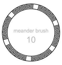 Ancient meander pattern line vector