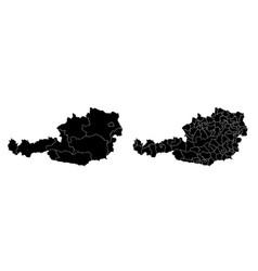 Austria map municipal region state division vector