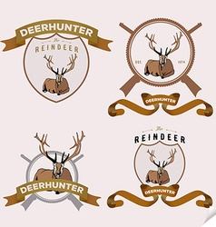 Authentic hipster logotype with lying deer vector image