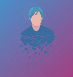 Avatar with abstract background vector