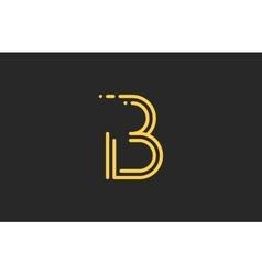 B letter logo Line logo Creative logo design vector